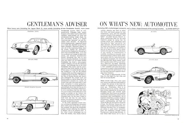 Gentleman's Adviser on What's New: Automotive
