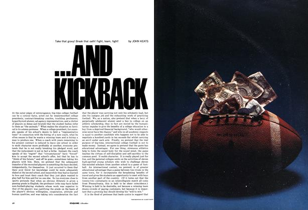 Article Preview: ...And Kickback, OCTOBER, 1962 1962 | Esquire