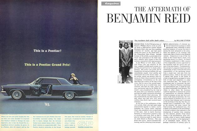 The Aftermath of Benjamin Reid