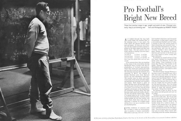 Pro Football's Bright New Breed