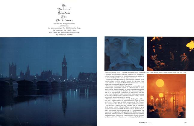Article Preview: To Dickens' London for Christmas, DECEMBER, 1962 1962 | Esquire