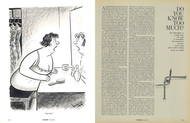 Article Preview: Do You Know Too Much?, DECEMBER, 1962 1962 | Esquire