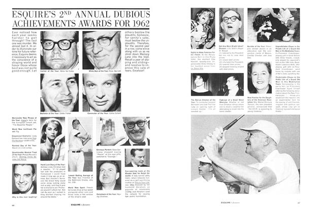 Esquire's 2nd Annual Dubious Achievements Awards for 1962