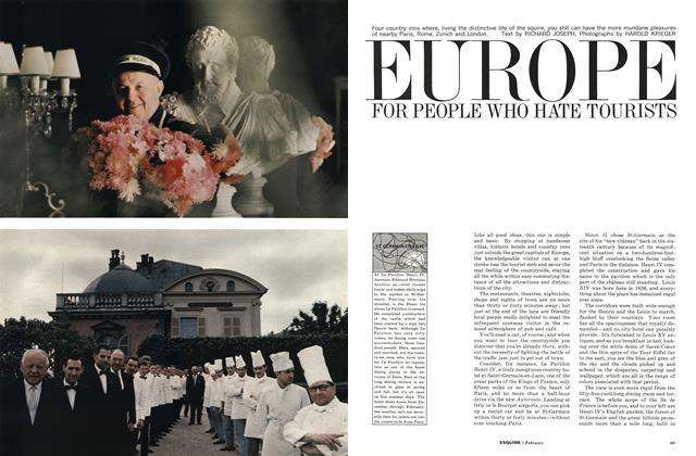 Article Preview: Europe for People Who Hate Tourists, February 1963 | Esquire