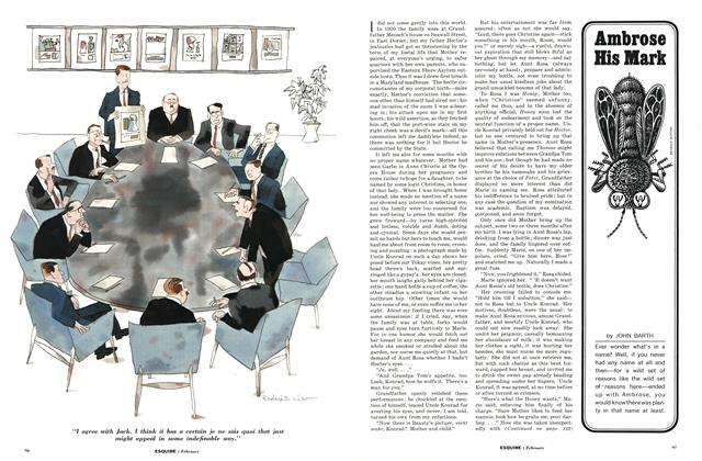 Article Preview: Ambrose His Mark, February 1963 | Esquire