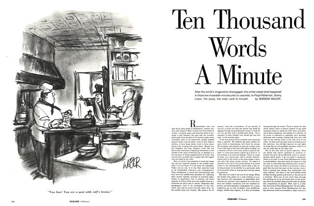 Article Preview: Ten Thousand Words a Minute, February 1963 | Esquire