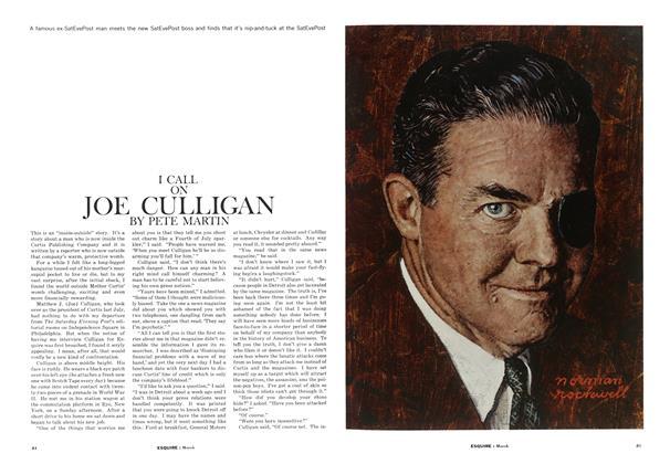 I Call on Joe Culligan