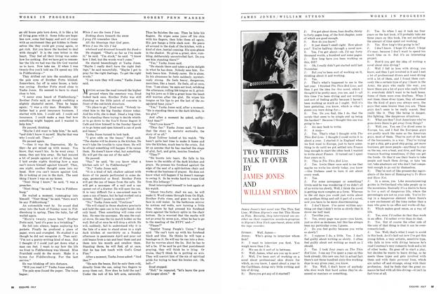 Article Preview: TWO WRITERS TALK IT OVER, July 1963 | Esquire