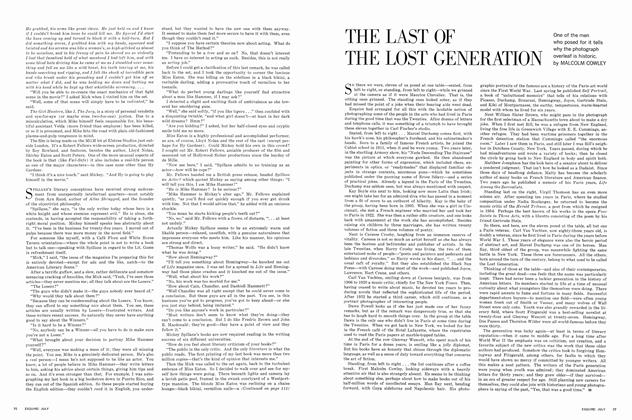 Article Preview: THE LAST OF THE LOST GENERATION, JULY, 1963 1963 | Esquire