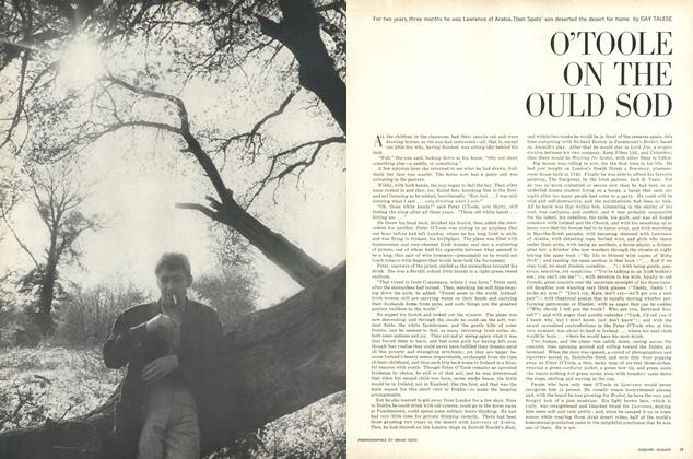 Article Preview: O'Toole on the Ould Sod, AUGUST, 1963 1963 | Esquire