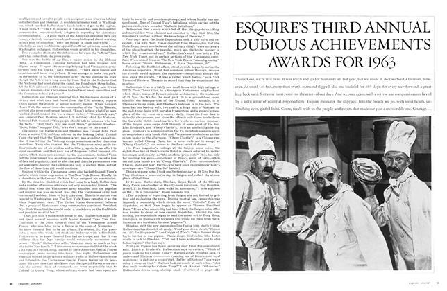 Esquire's Third Annual Dubious Achievements Awards for 1963