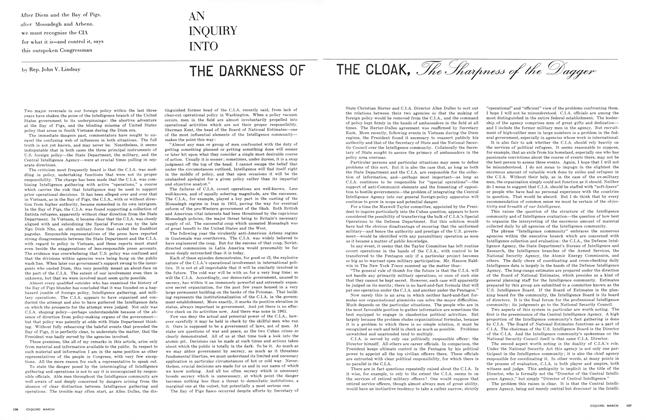 An Inquiry into the Darkness of the Cloak, the Sharpness of the Dagger