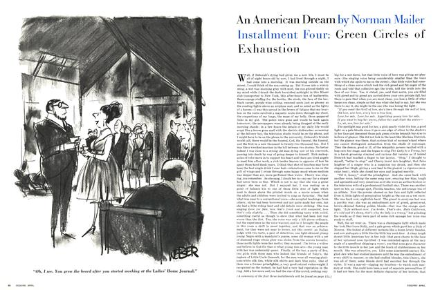 Article Preview: Green Circles of Exhaustion, April 1964 1964 | Esquire