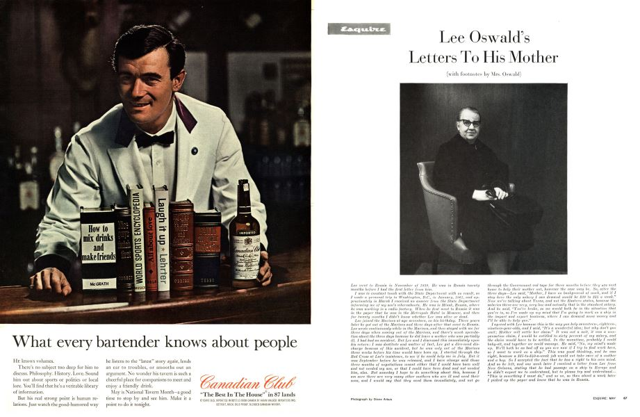 Lee Oswald's Letters To His Mother   Esquire   MAY, 1964