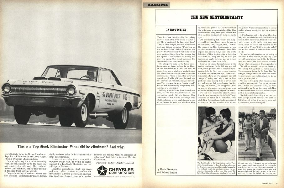 The New Sentimentality | Esquire | JULY 1964