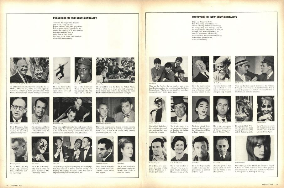 Purveyors of Old Sentimentality | Esquire | JULY 1964