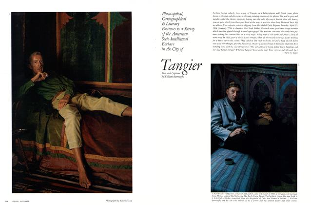 Article Preview: Tangier, SEPTEMBER, 1964 1964 | Esquire