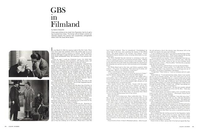 Article Preview: GBS in Filmland, December 1964 | Esquire