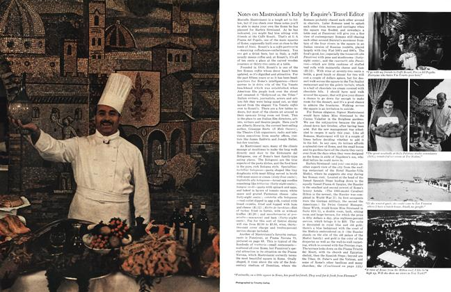 Notes on Mastroianni's Italy by Esquire's Travel Editor