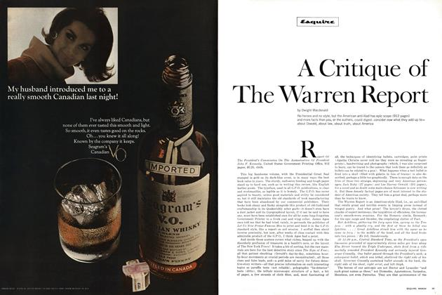 Article Preview: A Critique of the Warren Report, March 1965 | Esquire