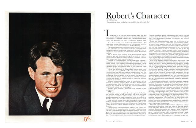 Article Preview: Robert's Character, April 1965 | Esquire