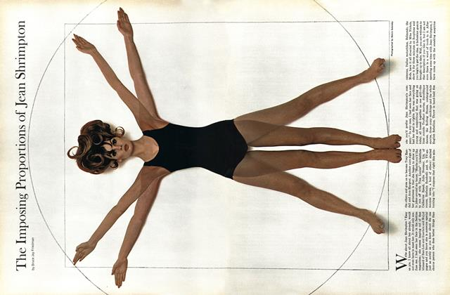 Article Preview: The Imposing Proportions of Jean Shrimpton, April 1965 | Esquire