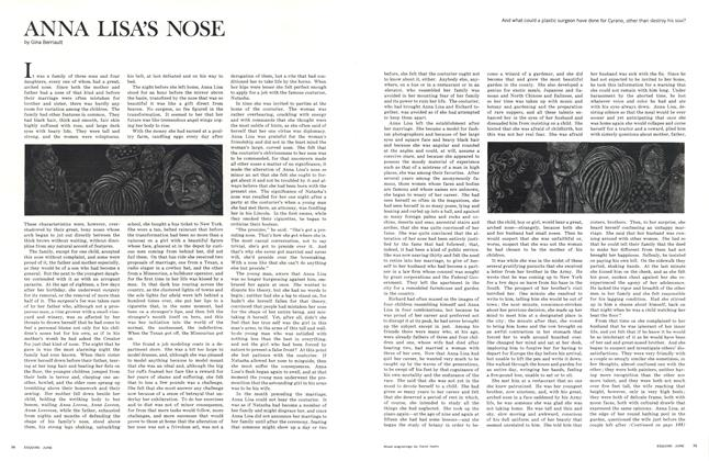 Article Preview: Anna Lisa's Nose, JUNE 1965 1965   Esquire
