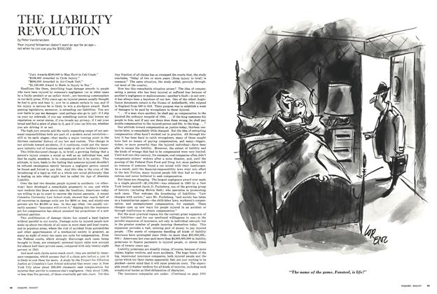 Article Preview: THE LIABILITY REVOLUTION, August 1965 | Esquire