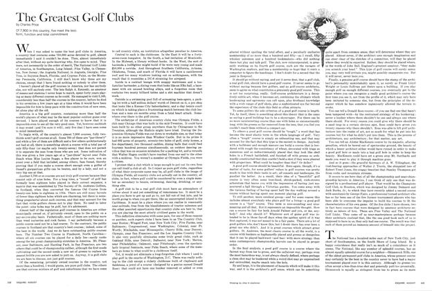 Article Preview: The Greatest Golf Clubs, AUGUST 1965 1965 | Esquire