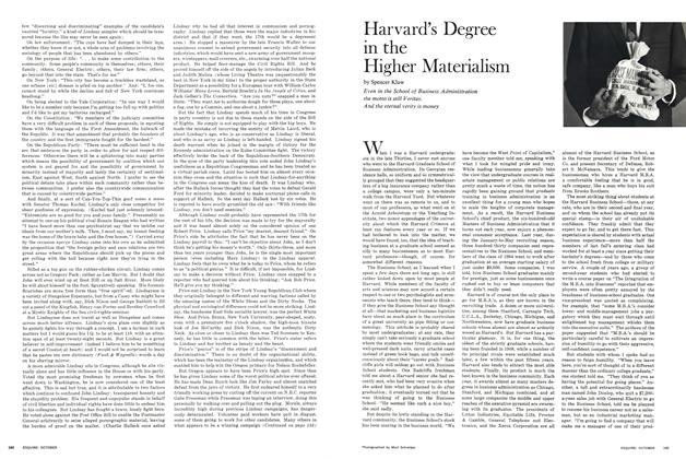Harvard's Degree in the Higher Materialism