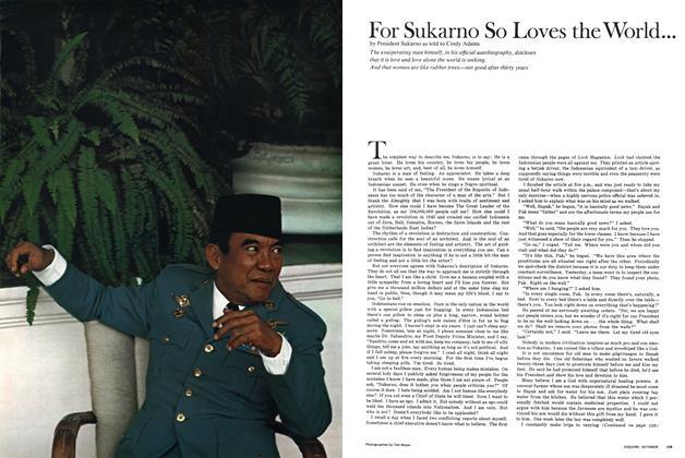 For Sukarno So Loves the World...
