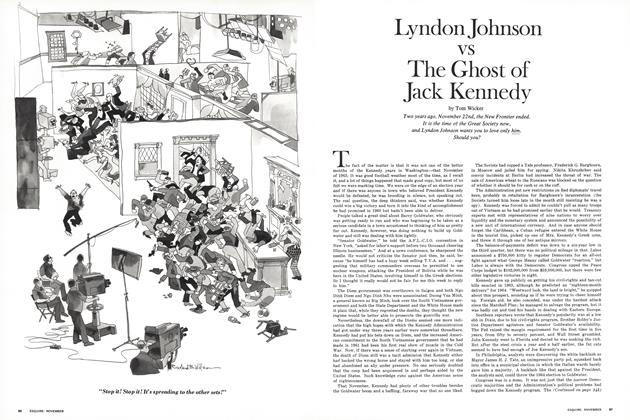 Lyndon Johnson vs The Ghost of Jack Kennedy