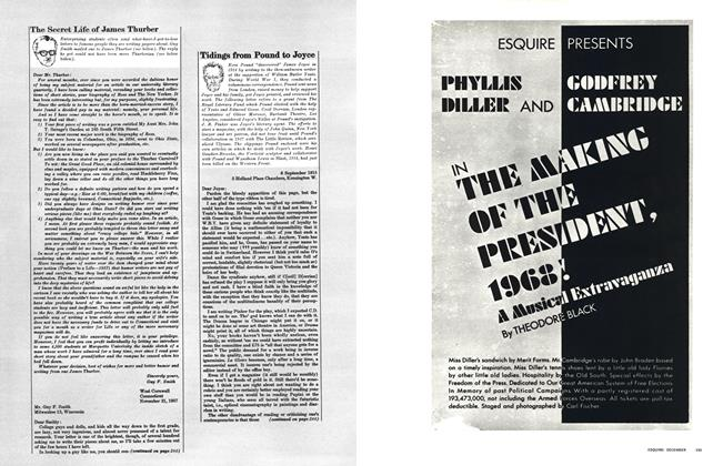 Article Preview: PHYLLIS DILLER AND GODFREY CAMBRIDGE IN THE MAKING OF THE PRESIDENT, 1968!, DECEMBER 1965 1965 | Esquire