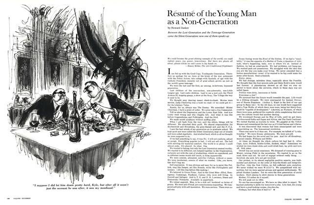 Résumé of the Young Man as a Non-Generation