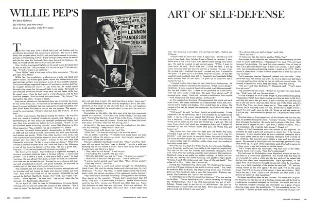 Article Preview: Willie Pep's Art of Self-Defense, DECEMBER 1965 1965 | Esquire