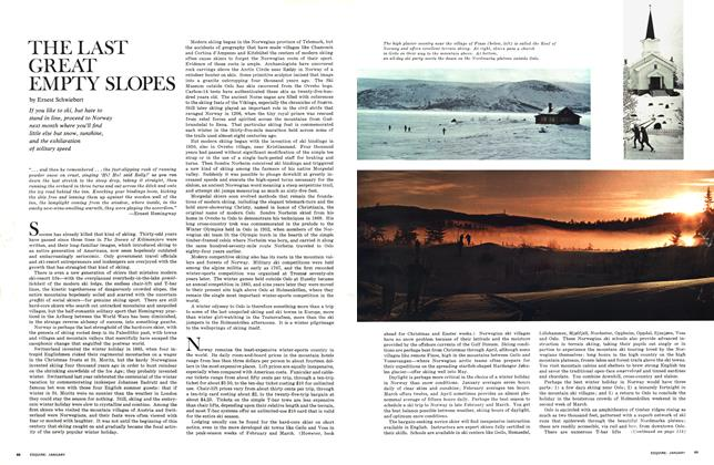 Article Preview: The Last Great Empty Slopes, JANUARY 1966 1966 | Esquire