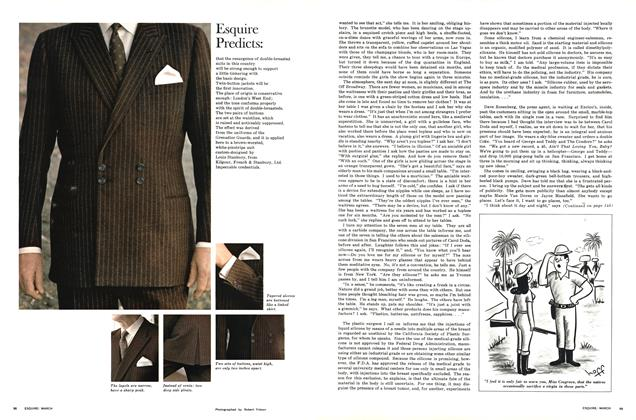 Article Preview: Double-breasted Suits with Double Pairs of Buttons, MARCH 1966 1966 | Esquire