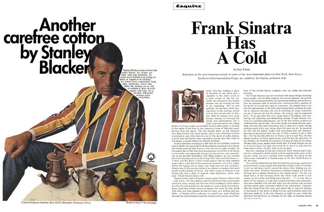 Article Preview: Frank Sinatra Has a Cold, APRIL 1966 1966 | Esquire