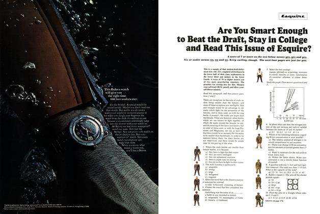 Are You Smart Enough to Beat the Draft, Stay in College and Read This Issue of Esquire?