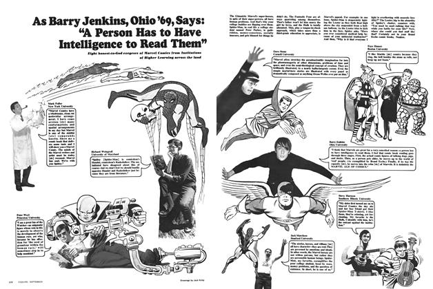 """Article Preview: As Barry Jenkins, Ohio '69, Says: """"A Person Has to Have Intelligence to Read Them"""", SEPTEMBER 1966 1966 