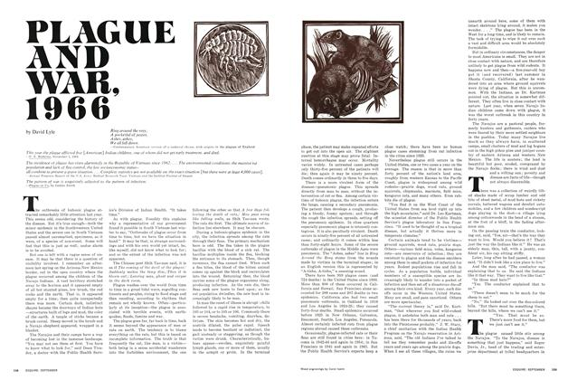 Article Preview: Plague and War, 1966, SEPTEMBER 1966 1966 | Esquire