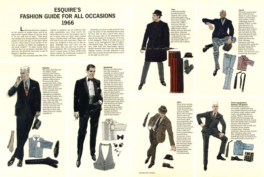6038159d814f Esquire's Fashion Guide for All Occasions 1966 | Esquire | SEPTEMBER ...