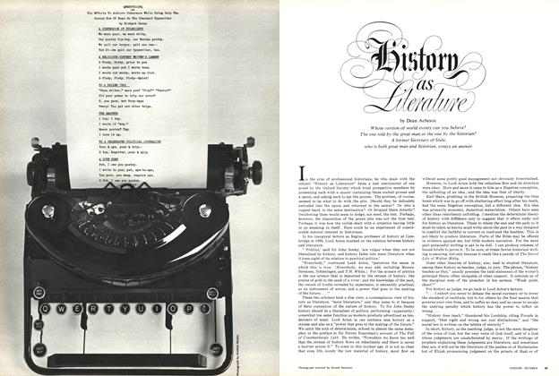 Article Preview: History as Literature, October 1966 | Esquire