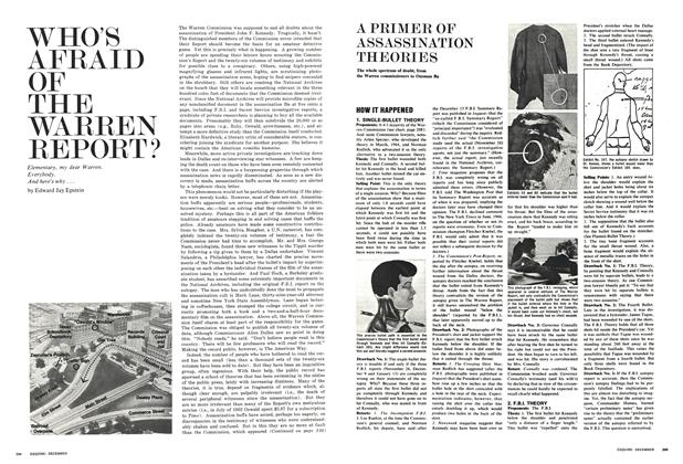 Article Preview: A Primer of Assassination Theories, December 1966 | Esquire