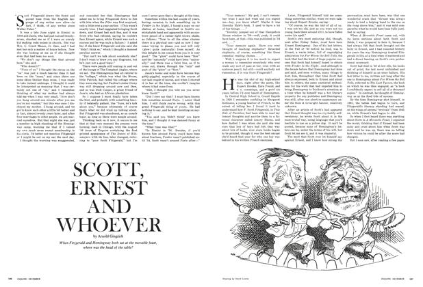 Article Preview: Scott, Ernest and Whoever, December 1966 | Esquire