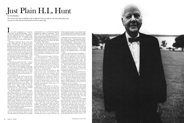 Article Preview: Just Plain H. L. Hunt, January 1967 | Esquire