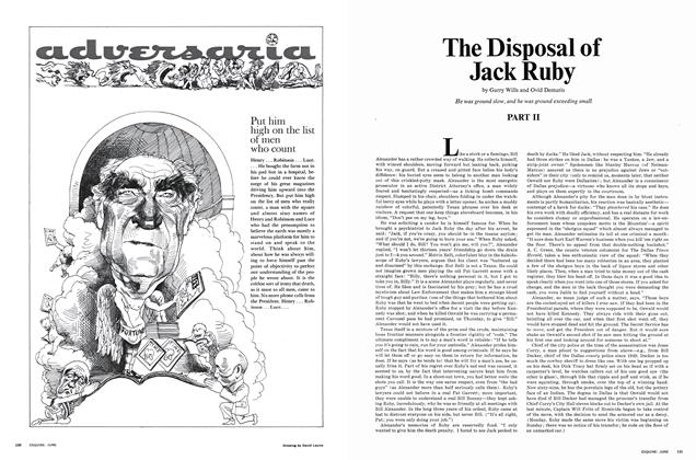 Article Preview: The Disposal of Jack Ruby, JUNE 1967 1967   Esquire