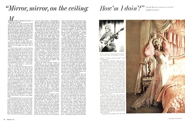 """Article Preview: """"Mirror, Mirror, on the Ceiling: How'm I Doin'?"""", July 1967   Esquire"""