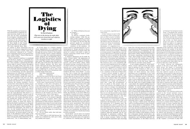 The Logistics of Dying