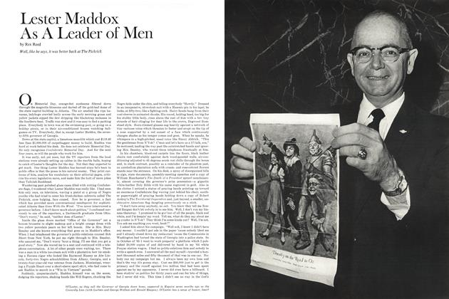 Lester Maddox as a Leader of Men
